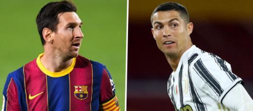 Messi e Cristiano Ronaldo voltam a se enfrentar, dessa vez pela Liga dos Campeões. (Fotomontagem)