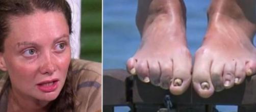Alexandra répond à la polémique concernant ses pieds - Photo montage