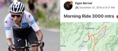 Anche i campioni come Egan Bernal condividono i propri allenamenti su Strava