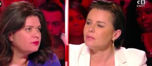 BTP : Raquel Garrido et Laurence Saillet se clash suite à un débat sur les violences policières. Credit: Capture/C8