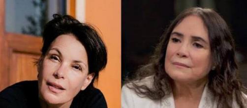 Carolina Ferraz não gostou do uso de sua imagem em publicação de Regina Duarte. (Arquivo Blasting News)