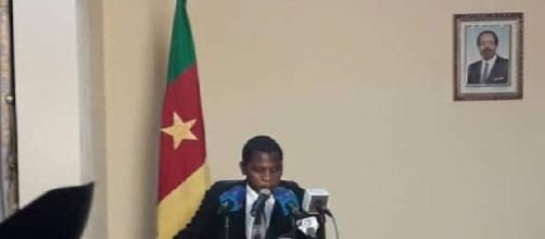 Le Ministre de l'Adiministration Territoriale Paul Atanga Nji le dimanche 9 février 2020(c) Odile Pahai