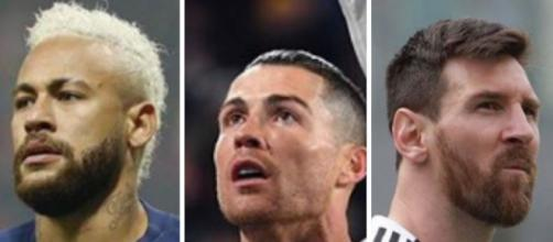 PSG: Neymar, Ronaldo et Messi . Credit: Instagram/neymarjr/cristiano/leomessi