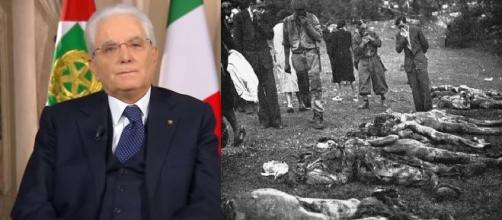 Sergio Mattarella ha commemorato le vittime delle foibe.