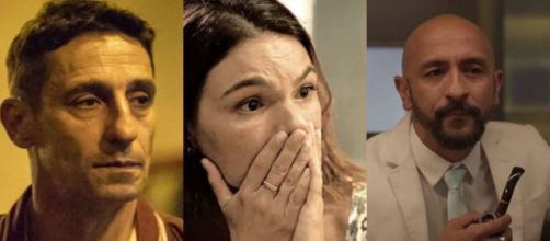 Betina (Isis Valverde), pode ser assassinada a mando de Álvaro (Irandhir Santos), em 'Amor de Mãe'. (Reprodução/Globo).