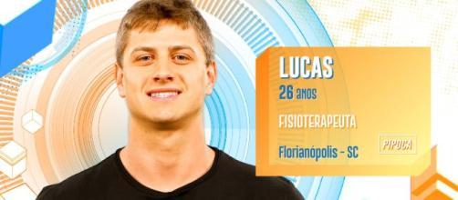 Em conversa com outros brothers, Lucas revelou o valor do cachê oferecido. (Reprodução/TV Globo)
