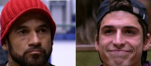 "Emparedados, Hadson Nery e Felipe Prior disputam a preferência do público do ""Big Brother Brasil 20"". ( Fotomontagem )"