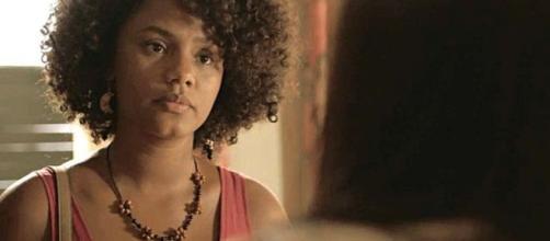Camila vai descobrir quem é sua mãe biológica e não reagirá bem em 'Amor de Mãe'. (Reprodução/TV Globo)