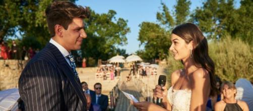 Diego Matamoros y Estela Grande en su boda (Mediaset)