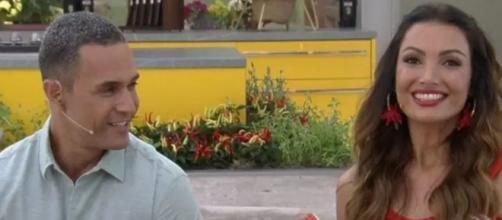 Fabricio Battaglini e Patrícia Poeta comandam o 'Mais Você'. (Reprodução/TV Globo)