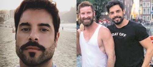 O ator Pedro Carvalho ao lado do advogado e marido João Henrique Simonetti. (Foto/Reprodução)