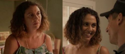 Penha e Belizário se aproximam em 'Amor de Mãe'. (Reprodução/TV Globo)