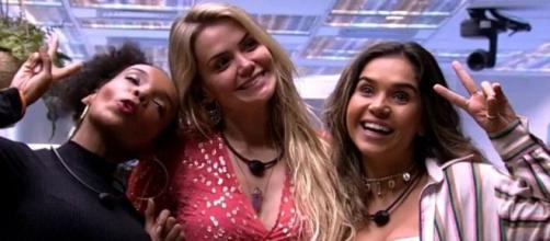 Thelma, Marcela e Gizelly: 'BBB20' virou assunto preferencial nas redes sociais e domina buscas na web. (Reprodução/TV Globo)