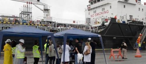 Navio com dois casos suspeitos do novo coronavírus atracará em Santos. (Arquivo Blasting News)