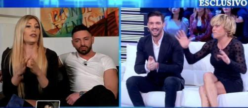 Paola Caruso, Daniele Pompili, Moreno Merlo e Floriana Secondi a Domenica Live.