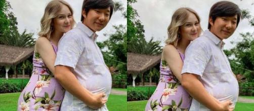 A esposa de Pyong Lee, Sammy, deu a luz neste domingo (16). (Reprodução/Instagram).