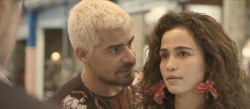 Érica fica furiosa ao ver o ex-noivo no capítulo desta segunda (17) de 'Amor de Mãe'. (Reprodução/TV Globo)
