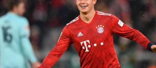James Rodriguez, nella foto con la maglia del Bayern Monaco.