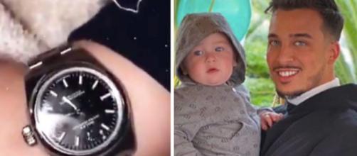 Laurent réagit à la polémique sur la montre Rolex qu'il a offert à son fils pour ses 1 an. Credit: Snapchat/ Instagram jaztvshow
