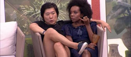 Pyong sobre Babu: 'Ele que surtou comigo'. (Reprodução/TV Globo)