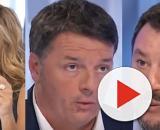 Myrta Merlino, Matteo Renzi e Matteo Salvini.