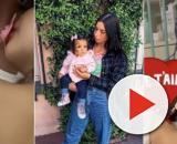 Opérée d'urgence à cause de son kyste au cerveau, Joy, la fille de Liam, attrape une bactérie à l'hôpital. ®Snapchat : Liam Di Benedetto