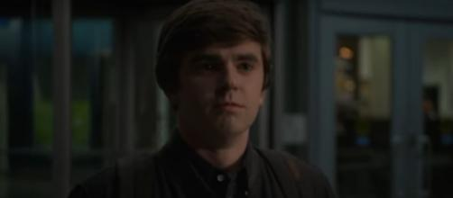 """After a night of karaoke on """"The Good Doctor,"""" Carly decides she can't be Shaun's girlfriend anymore.[Image source:ABC-YouTube]"""