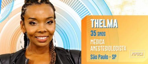 """""""BBB 20': Thelma chora por falta de comida. (Reprodução TV Globo)"""