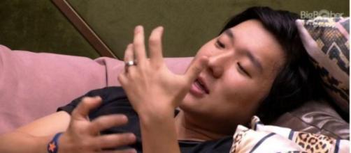 'BBB20': Pyong fala do nascimento do filho. (Reprodução/TV Globo)