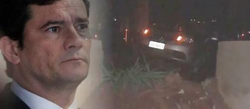 Sobrinha do ministro Sergio Moro foi rendida e levada por assaltantes. (Fotomontagem/Reprodução/ RIC Record TV))