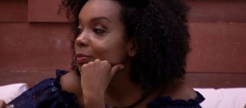 Thelma acordou chorando de fome e perdeu quarto quilos ao longo do 'BBB20'. (Reprodução/TV Globo)