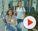 Claudia Rodrigues e a filha, Iza. (Reprodução/ Record TV)