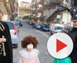 La famiglia di Gioiosa Marea, Messina, con i loro abiti di Carnevale ispirati ai look sanremesi di Achille Lauro.