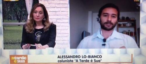 """Sonia Abrão e Lo-Bianco no programa """"A Tarde é Sua"""". (Reprodução/YouTube)"""