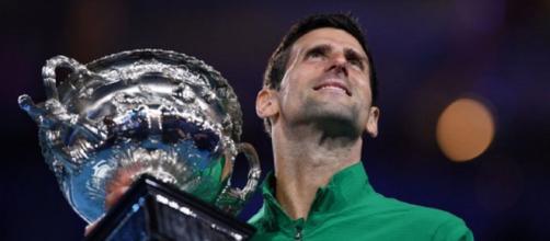 Novak Djokovic si appresta a ritornare in vetta al ranking Atp (ph. twitter Australian Open).