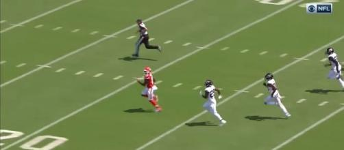 The Kansas City Chiefs could cut a receiver loose after the Super Bowl. [Image via Kansas City Chiefs/YouTube]