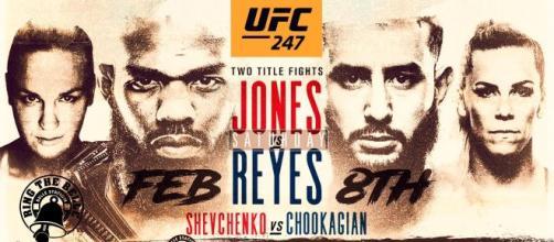 UFC 247: Jones vs Reyes, domenica 9 febbraio in diretta su DAZN