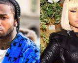 Pop Smoke a sinistra, Nicki Minaj a destra.