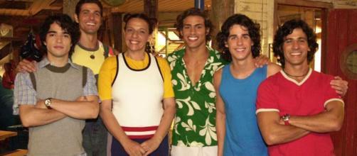 Atores da novela 'A Cor do Pecado anos após sua estreia. (Divulgação/TV Globo)