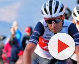 Vincenzo Nibali all'arrivo della seconda tappa della Volta Algarve