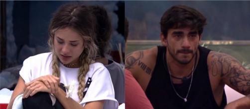 Guilherme faz Gabi chorar após declaração sobre Bianca e se arrepende. (Fotomontagem)