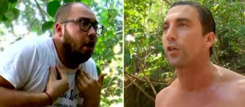 José Antonio Avilés y Antonio Pavón discutiendo durante 'Supervivientes'