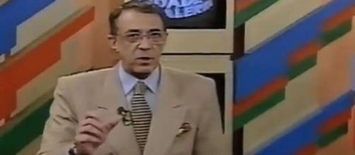 Ney Gonçalves Dias foi o primeiro apresentador. (Reprodução/TV Record)