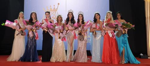 The winners of the beauty pageant Face of Beauty International 2019