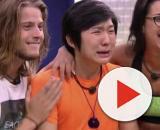 Pyong Lee se emocionou ao saber que seu filho Jake já havia nascido. (Reprodução/TV Globo)