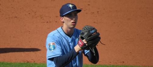 Blake Snell hopes to regain his 2018 AL Cy Young form. [Image Source: Flickr | Bryan Green]