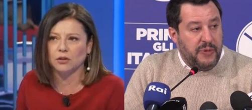 Il Ministro Paola De Micheli e Matteo Salvini.