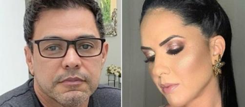 Marlene Camargo afirmou que a namorada de Zezé seria presente de Deus em sua vida. (Reprodução/Instagram/@zezedicamargo/@gracielelacerdaoficial)