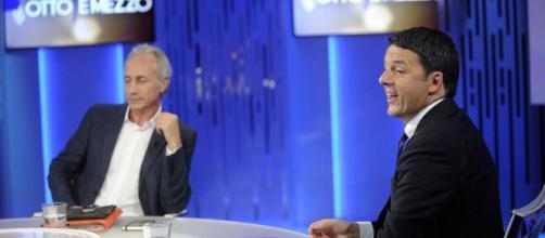 Nuovo accesso scontro tra Marco Travaglio e Matteo Renzi.