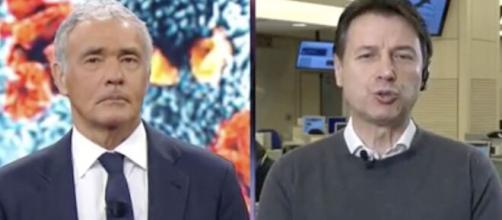 Il premier Conte risponde alle accuse di Salvini sul coronavirus in diretta da Giletti.